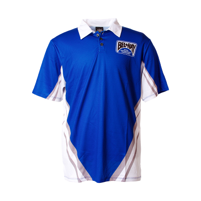 Bel-Ray Men's Polo Pit Shirt - Blue/White