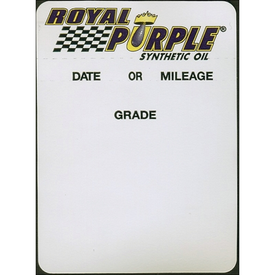 Royal Purple Oil Change Sticker (Roll of 500)