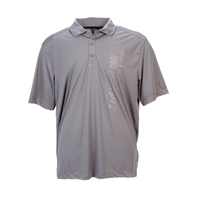 Royal Purple Vertical Logo Men's Polo - Grey