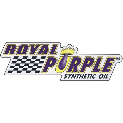 Royal Purple Decal - White Vinyl - 12