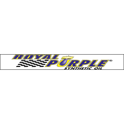 Royal Purple Windshield Sticker - White