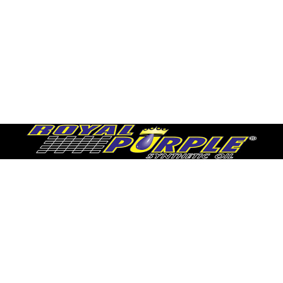 Royal Purple Windshield Sticker - Black
